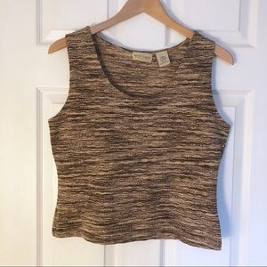 Apostrophe | Stretch Crop Top Size Large